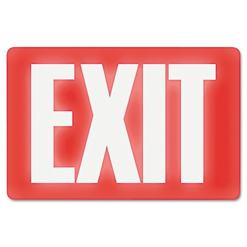 (Headline Sign 4792 Glow In The Dark Sign, 8 x 12, Red Glow, Exit)