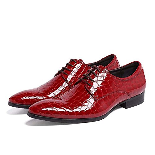 Zapatos Rojo Rojo Vestir Hombre Boda Moda de Zapatos Zapatos de Tamaño y de Nuevos Color 39 Azul de FcRrgSF