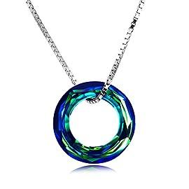 Tingle Alexandrite Necklace Pendant Unique Bullet Rock Pendant Color Change Gemstone Fine Jewelry Sterling Silver Cross Pendant Blue Opal Tree of Life Necklace Pendant