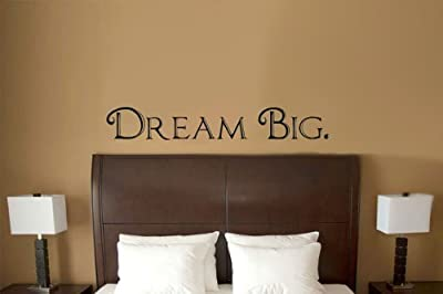 Dream Big Words Above Bed Vinyl Wall Decal Sticker Art