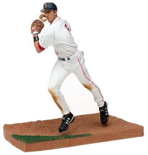 - MLB Series 9 Figure: Nomar Garciaparra with White Boston Red Sox Jersey