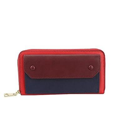 Wallet Zipper Clutch Long PU Leather Casual Purse Card Phone Holder for Women
