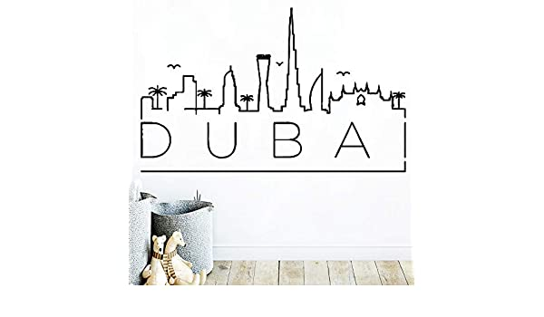 yaonuli Creative Dubai Map Cool Wall Stickers Tatuajes de Pared de ...