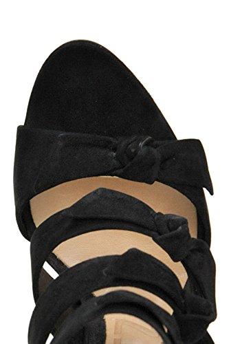 Schutz Women's MCGLCAT04040I Black Suede Sandals TlnQEvVOdr