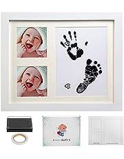 LEADSTAR Baby Handprint Kit & Footprint Frame Kit, Newborn Baby Boys Girls First Year Picture Album Frame Set, Keepsake Ornament Photo Frame for Baby Shower Registry, Art Frame Collection Wall Décor