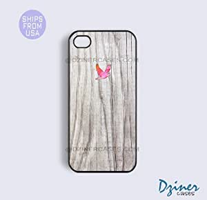 iPhone 6 Tough Case - 4.7 inch model - White Wood Print Colorful Bird iPhone Cover