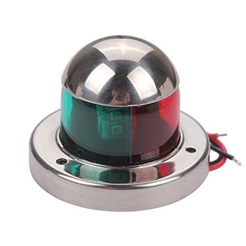 Zowaysoon Marine Bow Light 12V Bi Color LED Navigation Lights Stainless Steel for Boat Yacht -