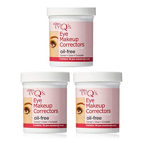 Andrea Eyeq's Oil-free Eye Make-up Correctors Pre-moistened Swabs, 50-Count (Pack of 3) ()