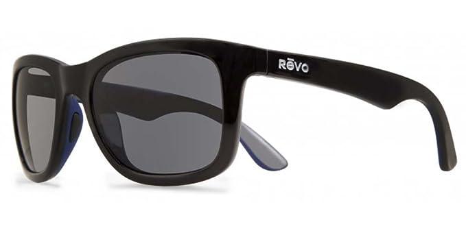 Revo Gafas de sol gafas Huddie mate negro/azul polarizadas gris: Amazon.es: Ropa y accesorios