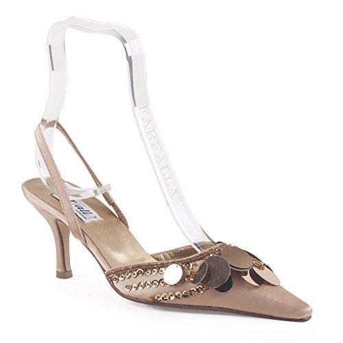 FARFALLA - Sandalias de vestir para mujer dorado