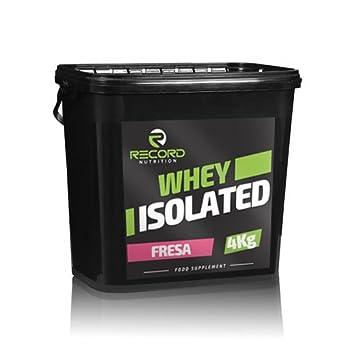 Whey Isolated 4kg 100% Profesional, proteina isolada, Sabor Fresa Record: Amazon.es: Salud y cuidado personal