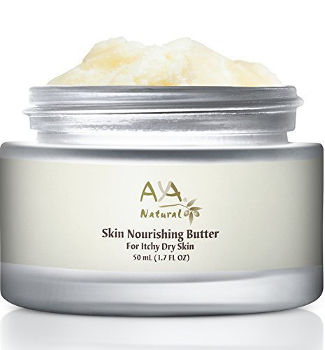 Aya Natural Body Butter Dry Skin Moisturizer - Anti Itch Moisturizing Skin Care 100% Natural Nourishing Cream for Relief & Repair