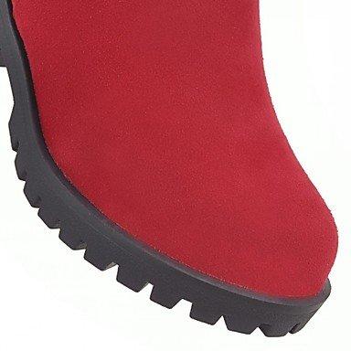 5 Printemps Gros Jaune amp;xuezi Noir Rouge Gll Cm Confort Nouveauté Similicuir Gland 7 Décontracté Bottes À Hiver Femme Talon vXxnOxZ