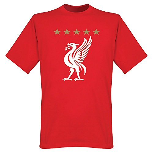 Liverpool 5 Star T-Shirt rot