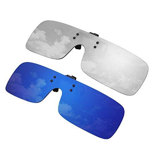 GQUEEN conduite à polarisées et sans monture Pièce de Bleu la Lunettes JP68 l'extérieur pèche Deux la pour Une amp; les lentilles Argent activités Paires q7qWxrfIwS