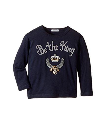 Dolce & Gabbana Kids  Baby Boy's Be The King T-Shirt (Toddler/Little Kids) Blue T-Shirt by Dolce & Gabbana