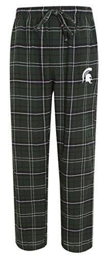 NCAA Michigan St Spartans Men's Plaid Pajama Lounge Pants XL 40-42 -