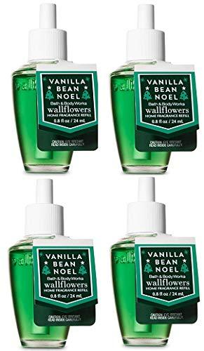 Bath And Body Works Vanilla Bean Noel Wallflowers Fragrances Refill. 0.8 Oz. 4 Set. by Bath & Body Works