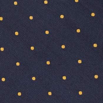 Notch Ungebundene Fliege aus Seide f/ür Herren Marine mit gelben Punkten
