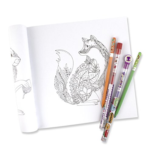 Enchanted Forest Coloring Book W 10 Pack Of Scented Colored Pencils Outlet