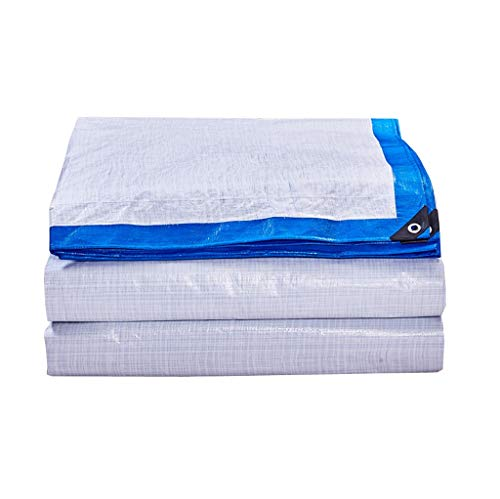 Nwn Tarpaulin Padded Sunscreen Poncho Truck Windshield Cloth Plastic Cloth Outdoor Waterproof Crepe 170g\㎡ (Size : 4M10M)