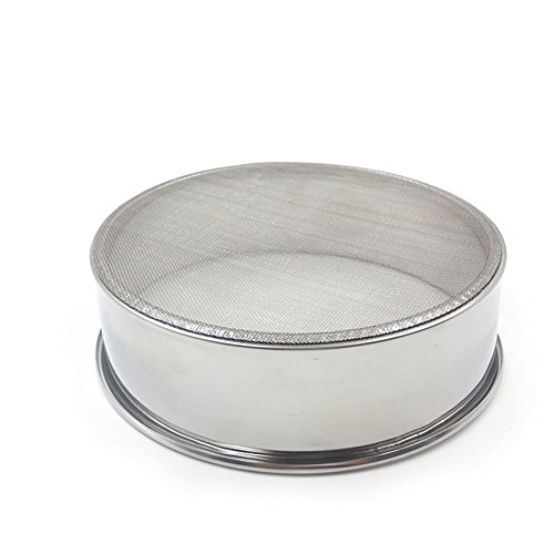 daffodilblob Durable Stainless Steel Mesh Flour Sifting Sifter Sieve Strainer Baking Kitchen Tool 5.91'' x 1.97'' Silver by daffodilblob (Image #8)