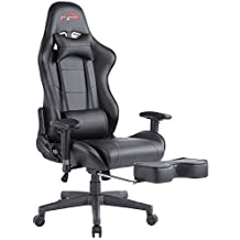 [UPDATED VERSION]Top Gamer Ergonomic Gaming Chair PC Computer Chairs for Gaming with Footrest (Black-5)