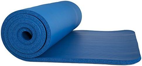 Wakeman Fitness - Esterilla de ejercicio para yoga (180 x 60 x 0,5 cm), color azul 7