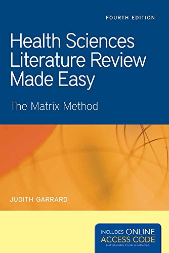 Health Sciences Literature Review Made Easy  Garrard  Health Sciences Literature Review Made Easy