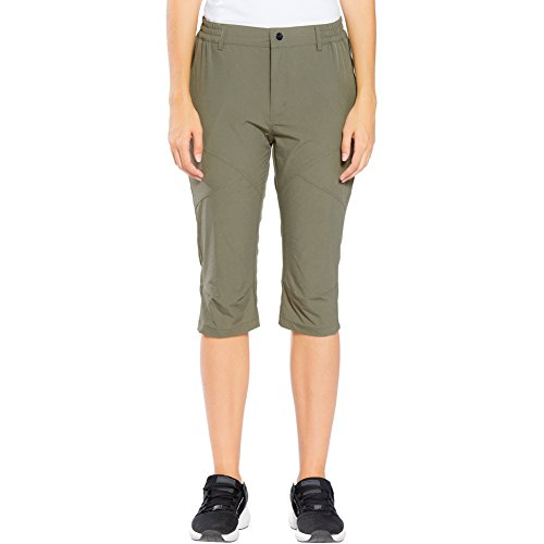 Capri Travel Lightweight Pants (FLYGAGA Women's Outdoor Quick Drying Lightweight Hiking Cargo Capri Pants Khaki L)