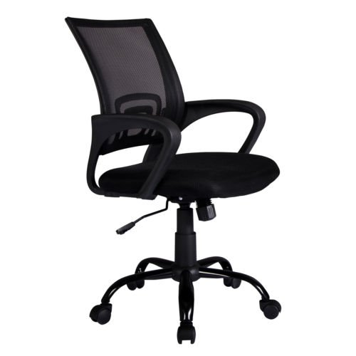 Black Ergonomic Mesh Computer Office Desk Midback Task Chair w/Metal Base H03 - Country : United States
