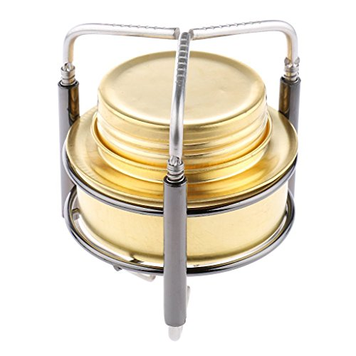 bargain house Ultra-light Copper Alloy Portable Mini Spirit Burner Alcohol Stove Outdoor Camping Stove Furnace with Stand