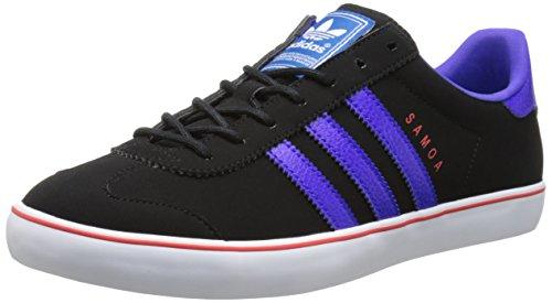 adidas Originals Men's Samoa Vulc Lifestyle Training Shoe, Black/Night Flash/Running White, 7 M US