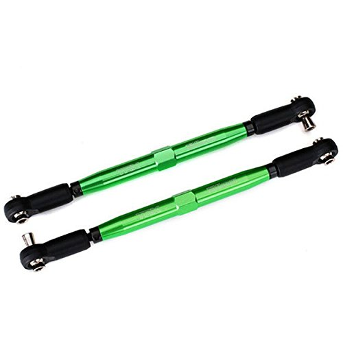 - Traxxas TRA7748G Toe links, X-Maxx (TUBES green-anodized, 7075-T6 aluminum, stronger than titanium) (157mm) (2)/ rod end