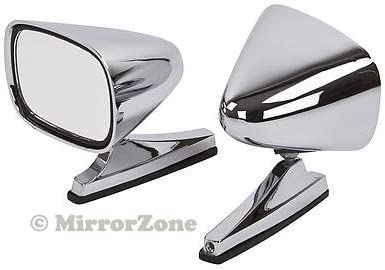 Pair of fully adjustable Classic Chrome Bullet Door Mirrors