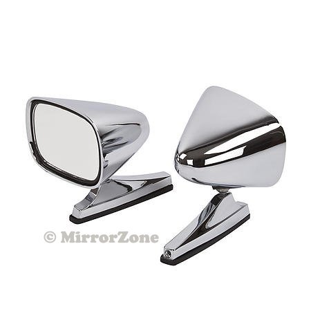 Vintage Style Chrome Sport Bullet Mirrors for Hot Rods, Classic Muscle Car Restomod, BOTH Left and (Hot Bodies Racing Race)