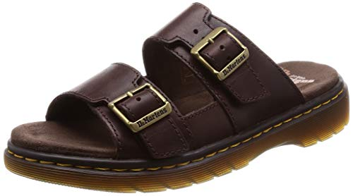 Dr. Martens Men's Nikolai Slide Sandal, Dark Brown, 10 Medium UK (11 US)