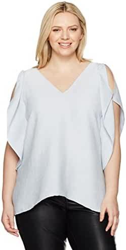 RACHEL Rachel Roy Women's Plus Size Flutter Drape Top