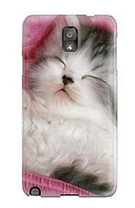 Faddish Phone Sleeping Kitten Case For Galaxy Note 3 / Perfect Case Cover wangjiang maoyi