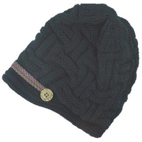 Winter Cap-SODIAL(R) Women's Cap Crochet Knitted Hat Winter Cap Girl Beret