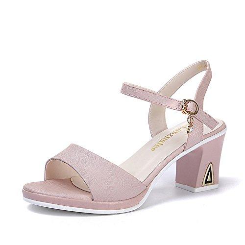 Flip toe basse scarpe di sandali estivi sandali BAJIAN scarpe Peep Alta Ladies Flop heelsWomen LI FwTnPzq0