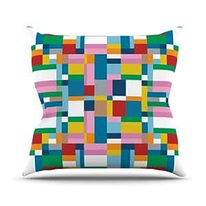 "KESS inhouse pm1015aop0318""Mapa de Project M, 45,7x 45,7"" Cojín Manta de exterior, multicolor"