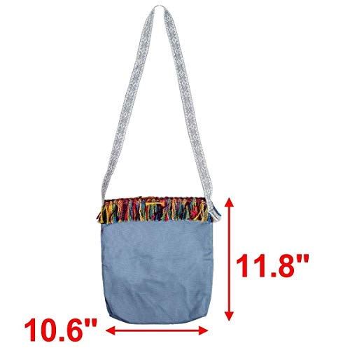 Canvas Nappa Colore Holder Laptop Studenti Dimensione Decor Tote Single Scuola Blu Viaggi Bag Moontang reale Cosmetici sourcingmap Shoulder Messenger Azzurro Libri 0wf8agxOq
