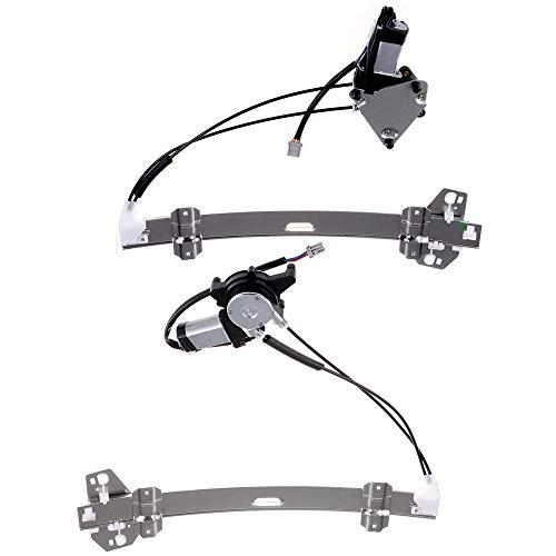OCPTY Power Window Regulator with Motor Assembly Replacement Front Side a Pair Set Window Regulator fit for 1997 Acura CL L4 2.2L (2156cc) 1994-1997 Honda Accord 2 Door