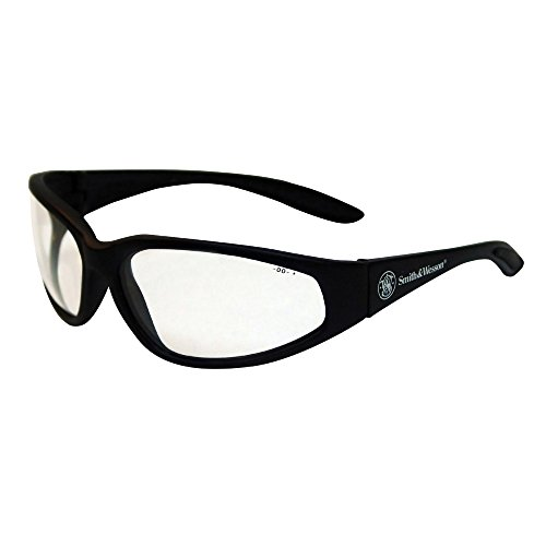 Smith and Wesson Safety Glasses (19856), 38 Special Safety Eyewear, Clear Lens, Black Frame, 12 Pairs / - Special Glasses 38 Safety