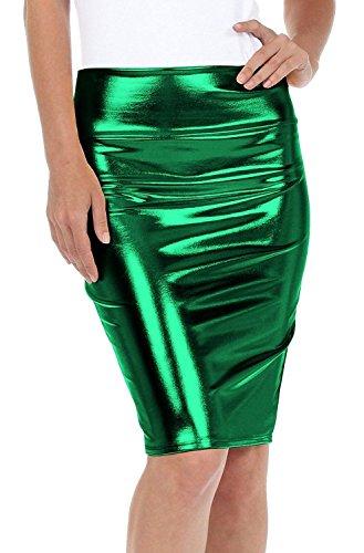 Rewatronics - Falda - Estuche - para mujer verde jade