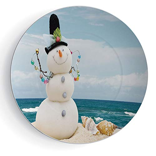 Snowman Decorative Plates - 8