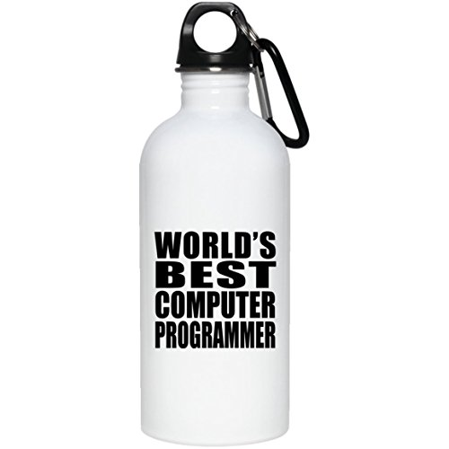 (Designsify World's Best Computer Programmer - Water Bottle, Stainless Steel Tumbler, Best Gift for Birthday, Anniversary, Easter, Valentine's Mother's Father's Day)