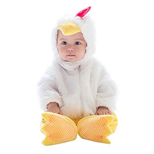 (Unisex Kids Baby Halloween Romper Pajamas Cosplay Costume Animal Sleepwear (19-24m,)