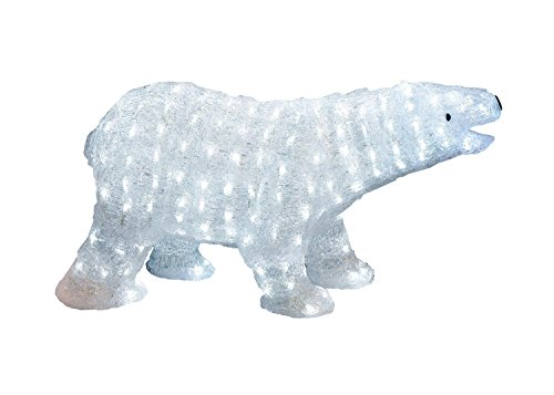 Outdoor Lighted Polar Bear Decorations - 3